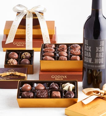 Godiva Excellence Chocolate Tower with Wine