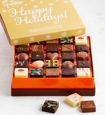 Jacques Torres Happy Holidays Chocolates Box 25pc