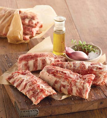 Uncooked Baby Back Pork Ribs - Eight 12-Ounce Half Slabs