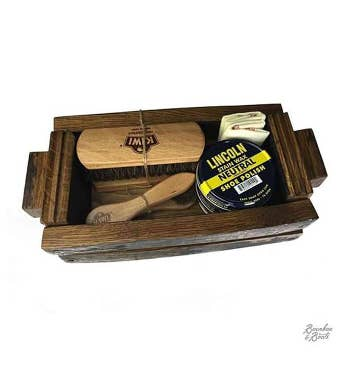 Reclaimed Bourbon Barrel Shoe Shine Kit