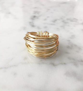 Marcia Multi Metal Wrap Ring