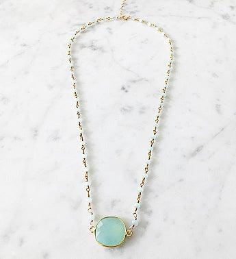 Mrs. Parker Endless Summer Necklace Chalcedony