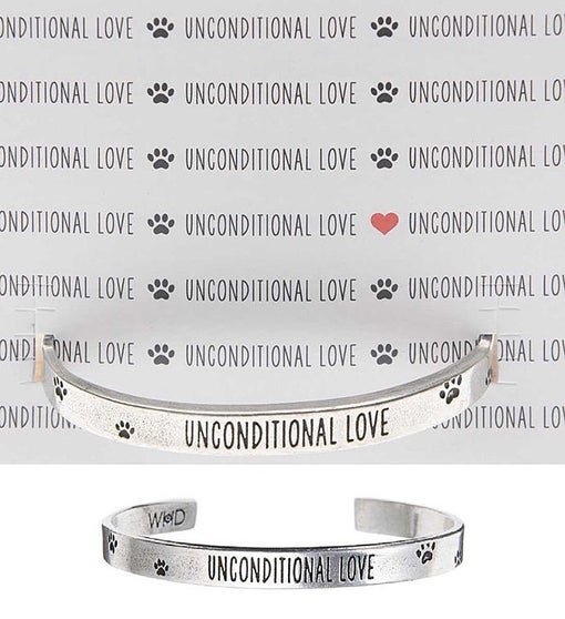 Unconditional Love Cuff Inspirational Jewelry Bracelet