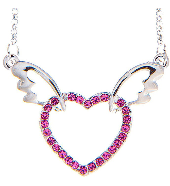 Winged Heart Design Necklace with Extendable Chain