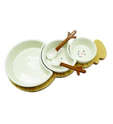 Snowman 3 Bowls Serving Set