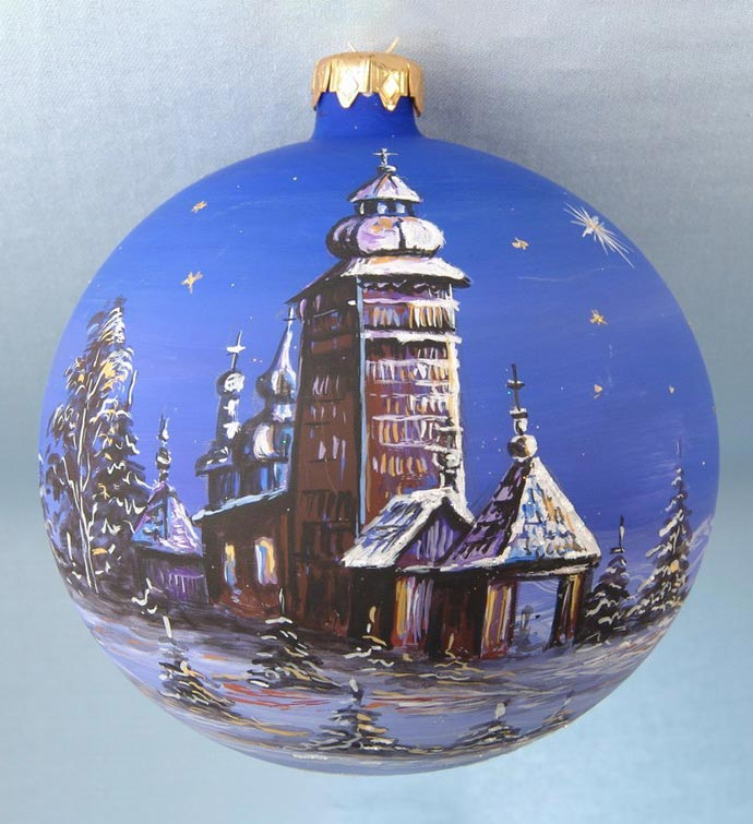 Artistic Blue Sky Hand Decorated Ornament