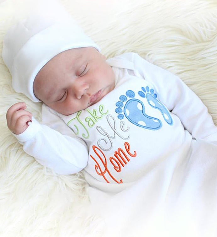 Take Me Home Gown 0-3 Month