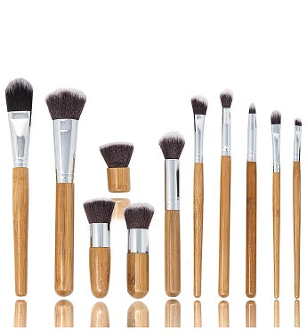 Professional 11 Piece Bamboo Eco Make-Up Brush Set