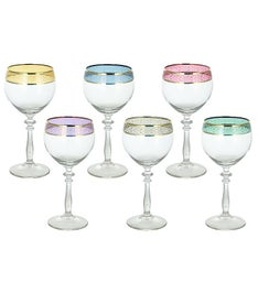 6-PC Multi-Color Band-Wine