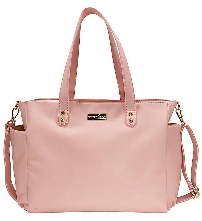 White Elm Aquila Tote Bag  Pink Vegan Leather