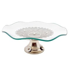Waved Platter with Base