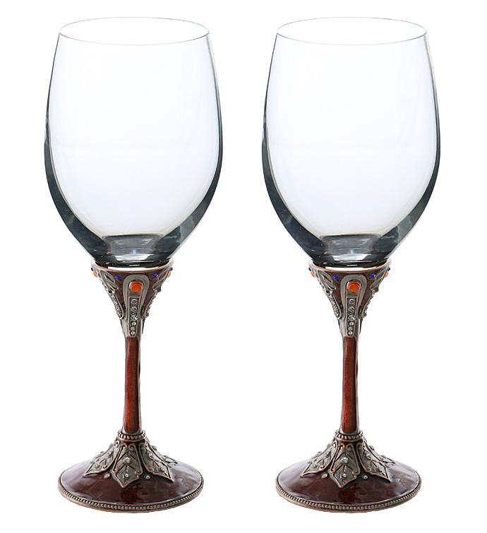 Burgundy Wine Glass Set