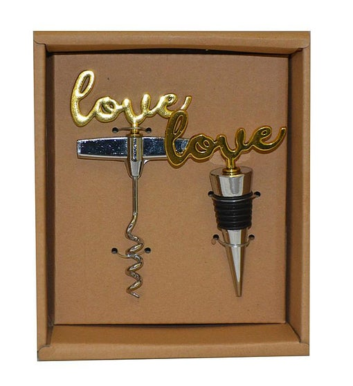 "Cork Opener & Stopper Set, ""Love"""
