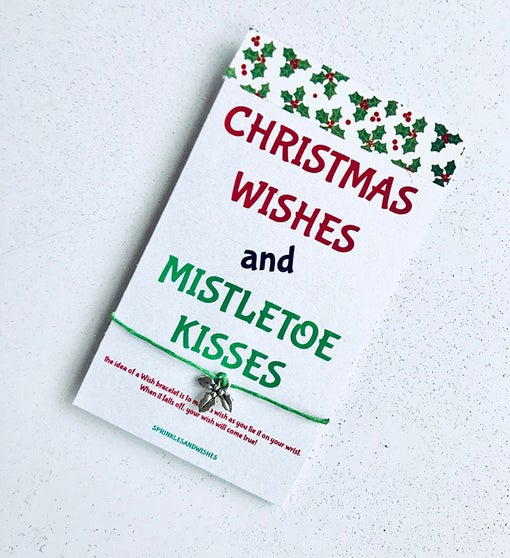 Mistletoe Kiss Wish Bracelet