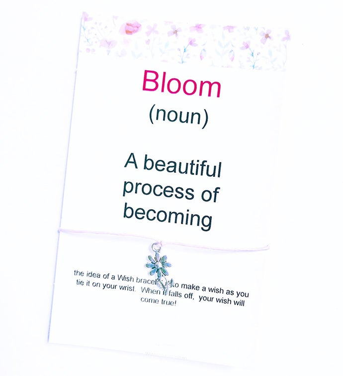 Bloom Definition Wish Bracelet
