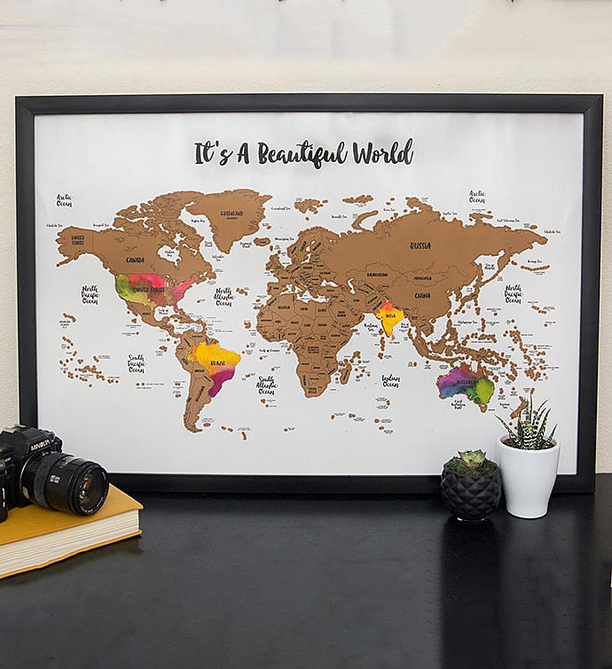 Scratch Your Travels It39s A Beautiful World Map