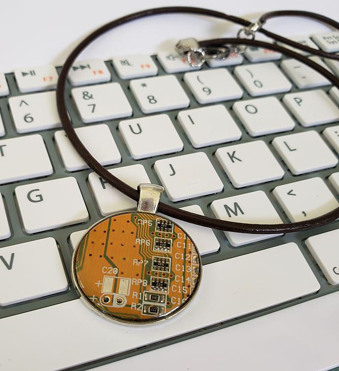 Orange Wearable Technology Necklace