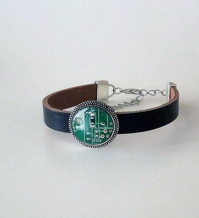 Wearable Technology Leather Bracelet