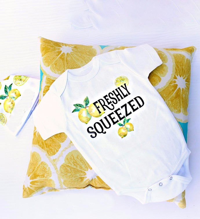 Freshly Squeezed Bodysuit  Hat Set