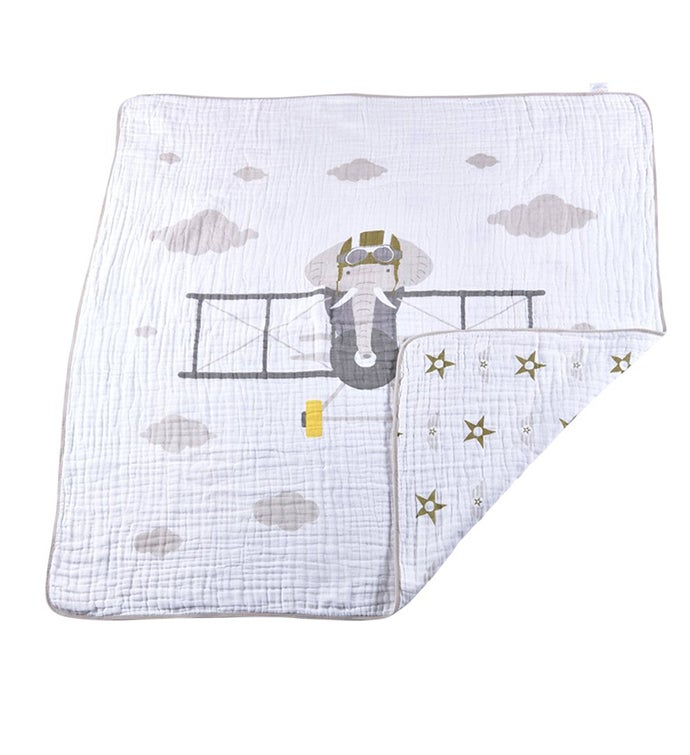 Cotton Muslin Blanket - Large Animal