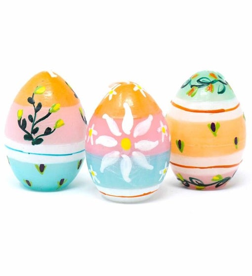 Hand Painted Imbali Design Candles, Set Of 3 (South Africa)
