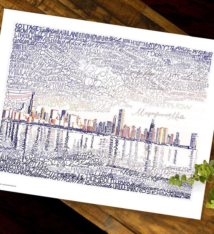 Skyline Word Art