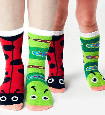 Ladybug & Caterpillar | Adult + Kid Socks