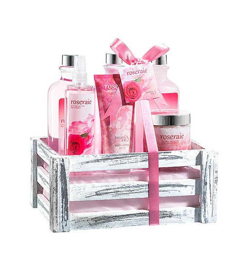 Pink Rose Bath and Body Home Spa Gift Set
