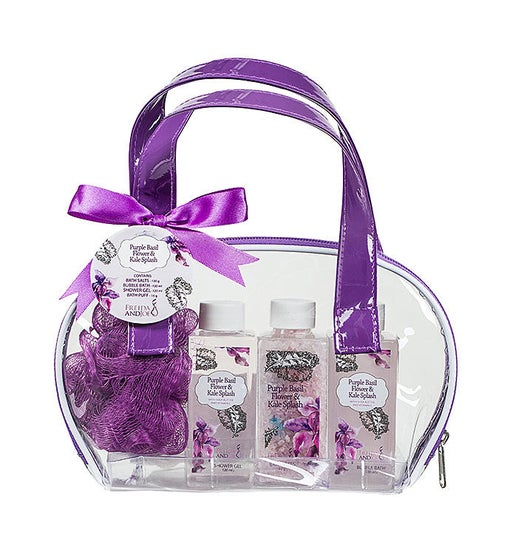 Purple Basil Flower & Kale Splash Easy Carry Spa