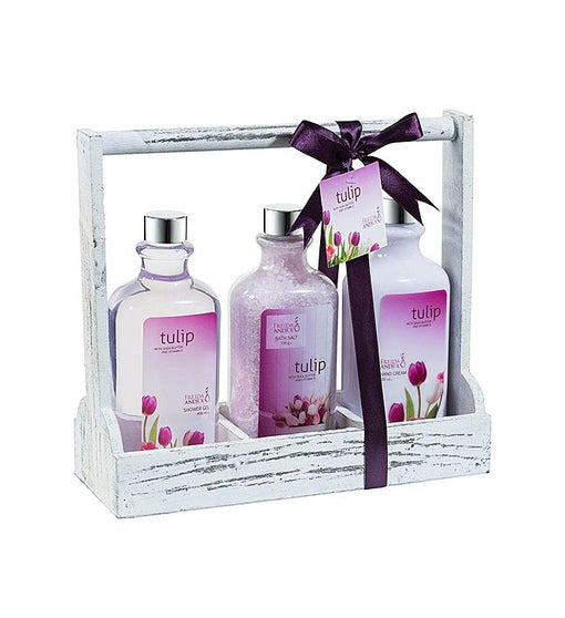 Tulip Fragrance Lotion Set Gift Basket