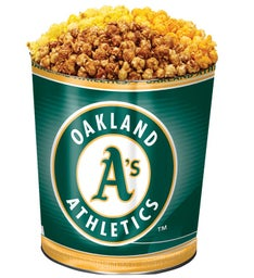 Oakland 'As 3-Flavor Popcorn Tins