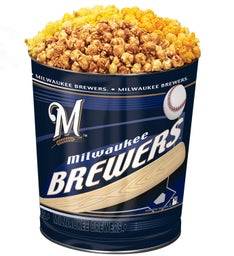 Milwaukee Brewers 3-Flavor Popcorn Tins