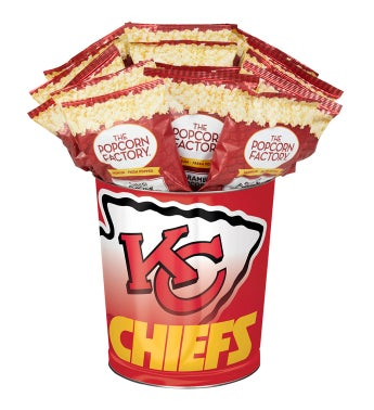 Kansas City Chiefs 3-Flavor Popcorn Tins