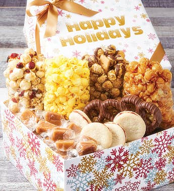 Sparkling Snowflakes Happy Holidays Snack Box