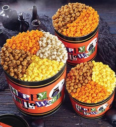 Happy Halloween Pick a Flavor 6 12 Gallon Popcorn Tins