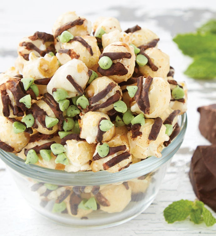 Mint Chocolate Chip Popcorn