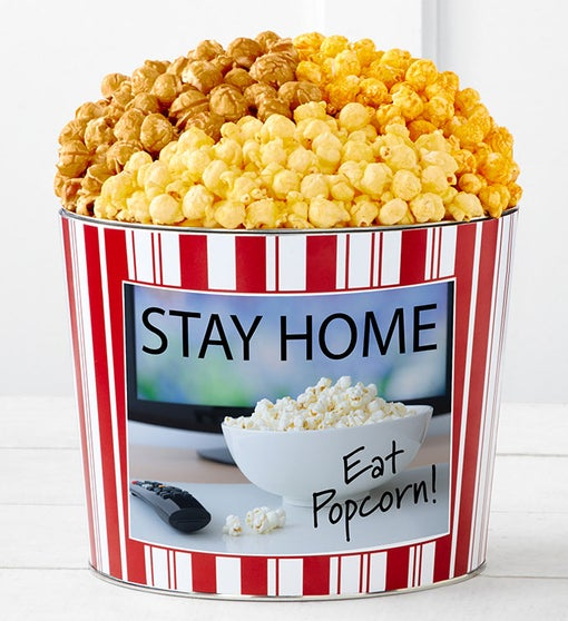 Tins With Pop™ Stay Home Eat Popcorn
