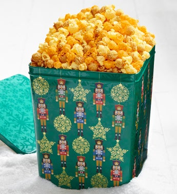 3 Gallon Nutcracker Square Popcorn Tin