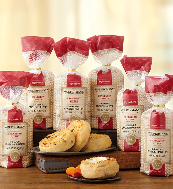 Cranberry Citrus SuperThick English Muffins   Packages