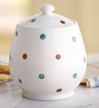 Polka Dot Cookie Jar