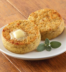 Garlic Herb Super-Thick English Muffins