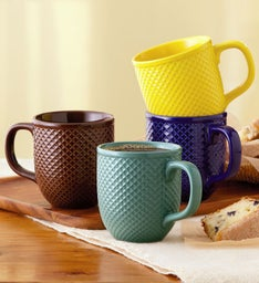 DiamondTextured Mug Set