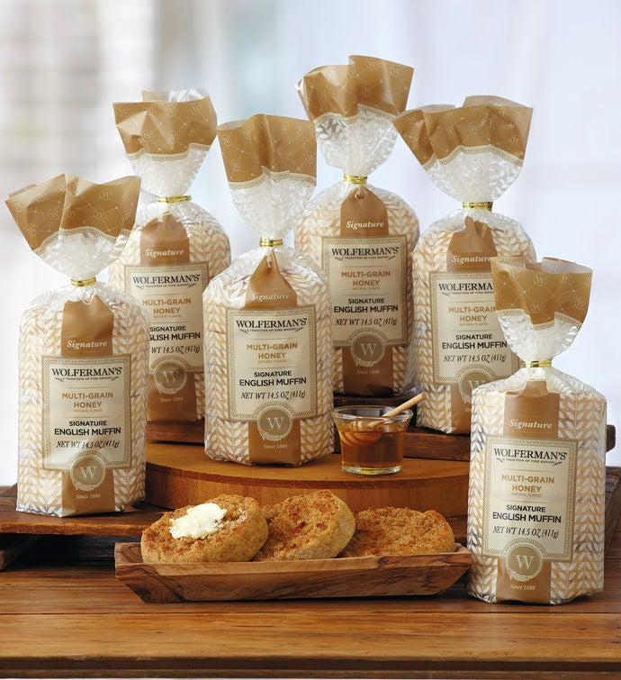 MultiGrain Honey SuperThick English Muffins   Packages