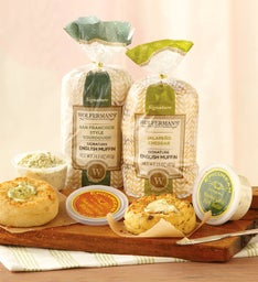 Savory English Muffins and Gourmet Butters