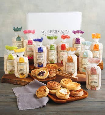 Create-Your-Own Signature English Muffins Gift Box with Tongs - 12 Packages