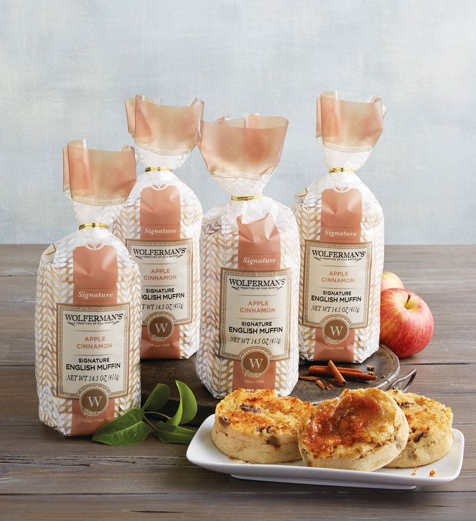 Apple Cinnamon SuperThick English Muffins   Packages