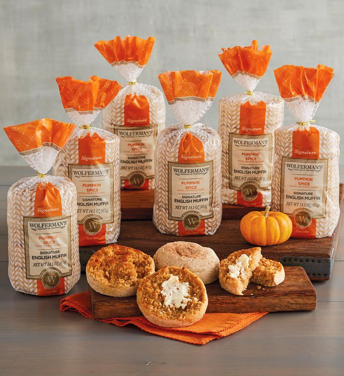 Pumpkin Spice SuperThick English Muffins   Packages