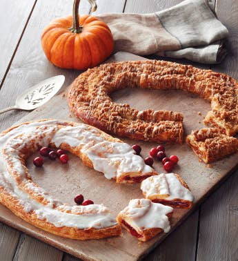 Pumpkin Cr232me and Cranberry Kringle Wreaths