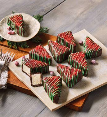 Christmas Tree Cheesecakes