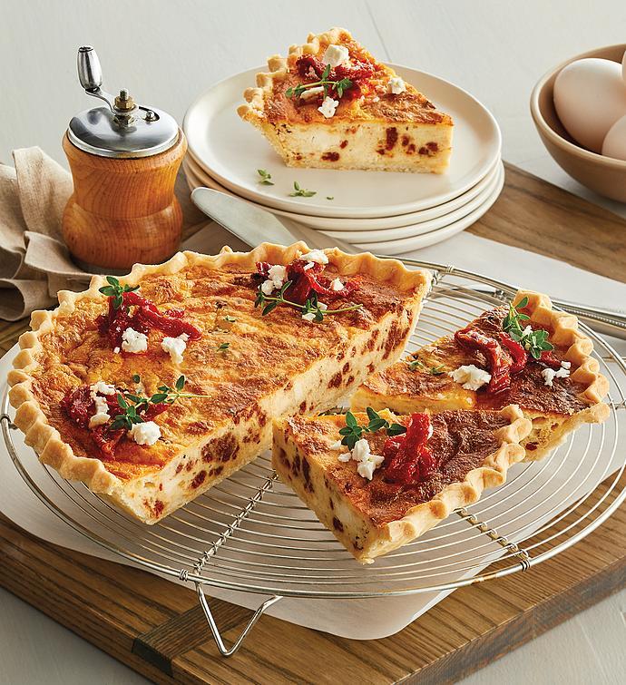 SunDried Tomato and Feta Quiche
